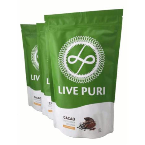 chocolade eiwitpoeder voordeelverpakking Live Puri