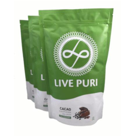 chocolade eiwitpoeder ongezoet voordeelverpakking Live Puri