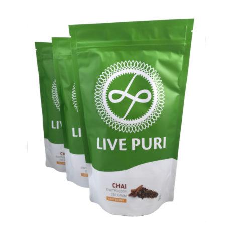 Chai eiwitpoeder licht gezoet voordeelverpakking Live Puri
