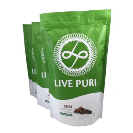 chai eiwitpoeder ongezoet voordeelverpakking Live Puri