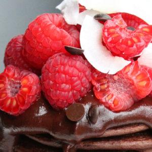 chocolade pannenkoekjes met framboos