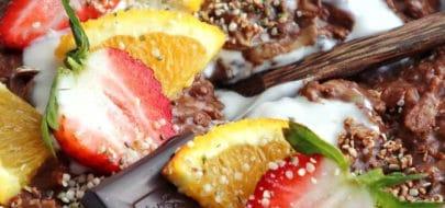 Eiwitrijke chocolade sinaasappel zoats Live Puri