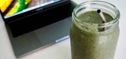 Eiwitrijke power smoothie met spinazie