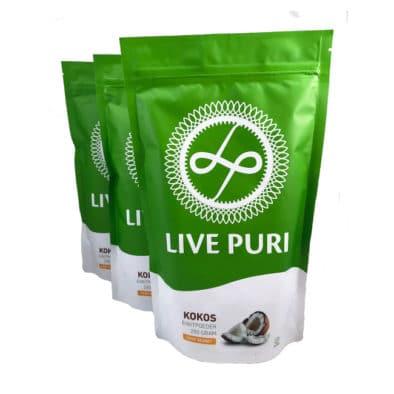 Kokos eiwitpoeder voordeelverpakking Live Puri