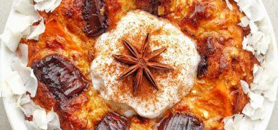 Live Puri Chai spiced sweet potato baked oats header