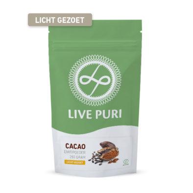 Chocolade eiwitpoeder licht gezoet Live Puri