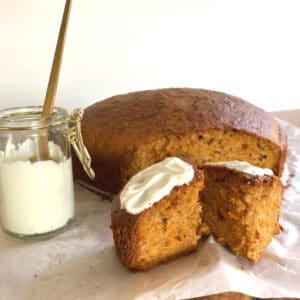 Live Puri gezonde carrot cake