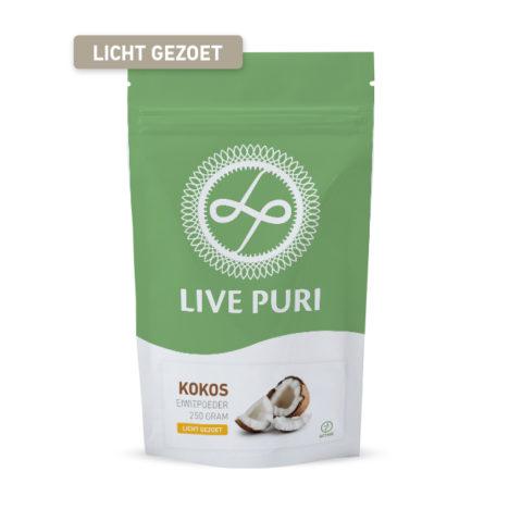 Kokos eiwitpoeder licht gezoet Live Puri