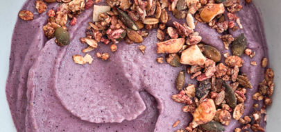 Live Puri paarse smoothiebowl