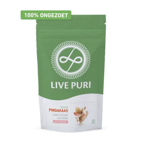 vegan eiwitpoeder pindakaas Live Puri