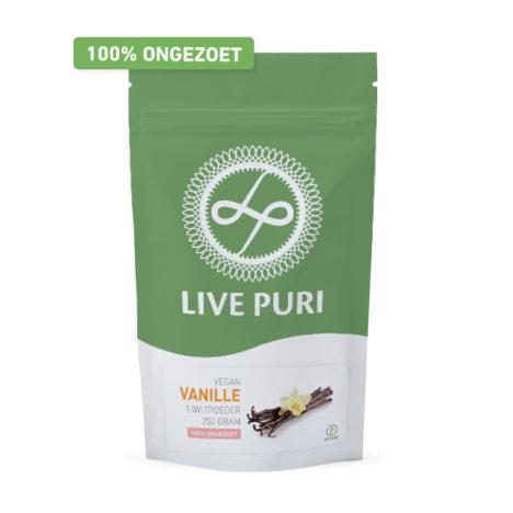 Vegan vanille eiwitpoeder Live Puri