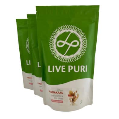 Live Puri vegan eiwitpoeder pindakaas ongezoet plantaardig eiwitpoeder