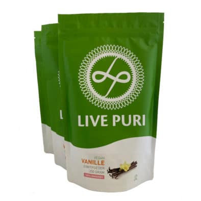 Live Puri vegan eiwitpoeder vanille ongezoet plantaardig eiwitpoeder