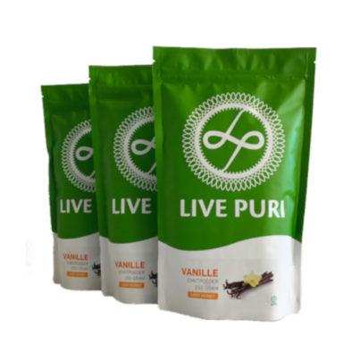 Vanille eiwitpoeder licht gezoet voordeelverpakking Live Puri
