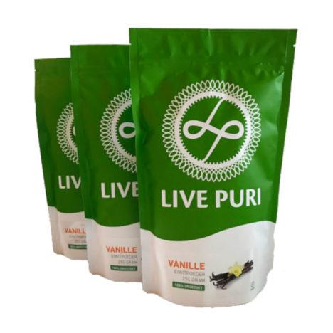Vanille eiwitpoeder ongezoet voordeelverpakking Live Puri