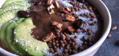 Vegan Cacao Espresso Smoothiebowl Live Puri