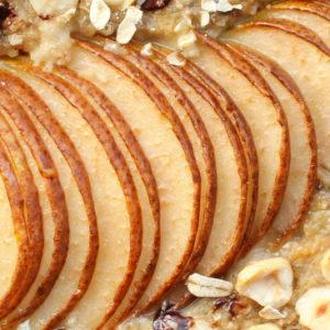 Baked oats met peer