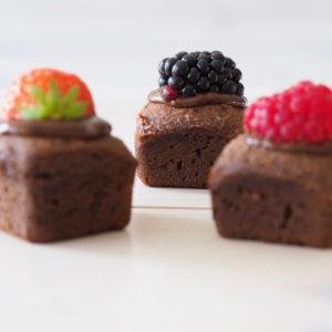 chocolade cakejes setje van 3
