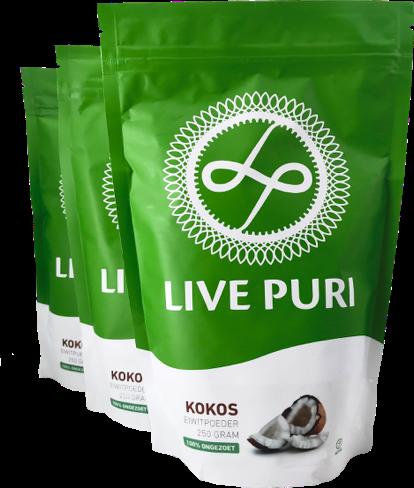Live Puri Kokos ongezoet eiwitpoeder